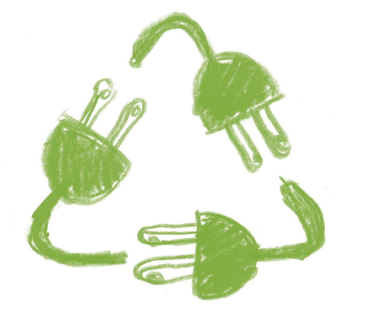 e-recycling logo