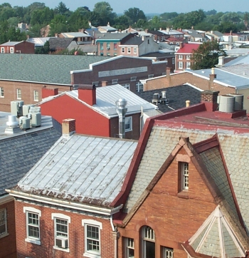 West Chester Buildings, View of Rooftops