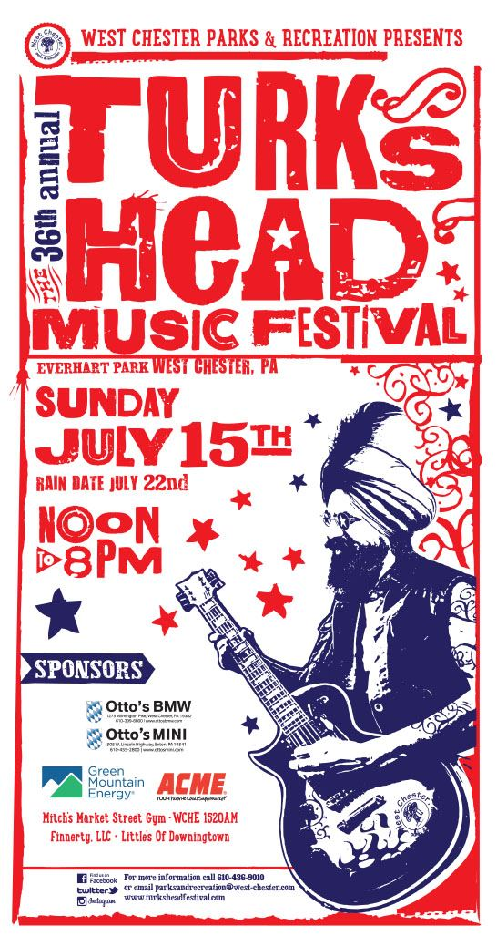 Turks Head Music Festival Flyer