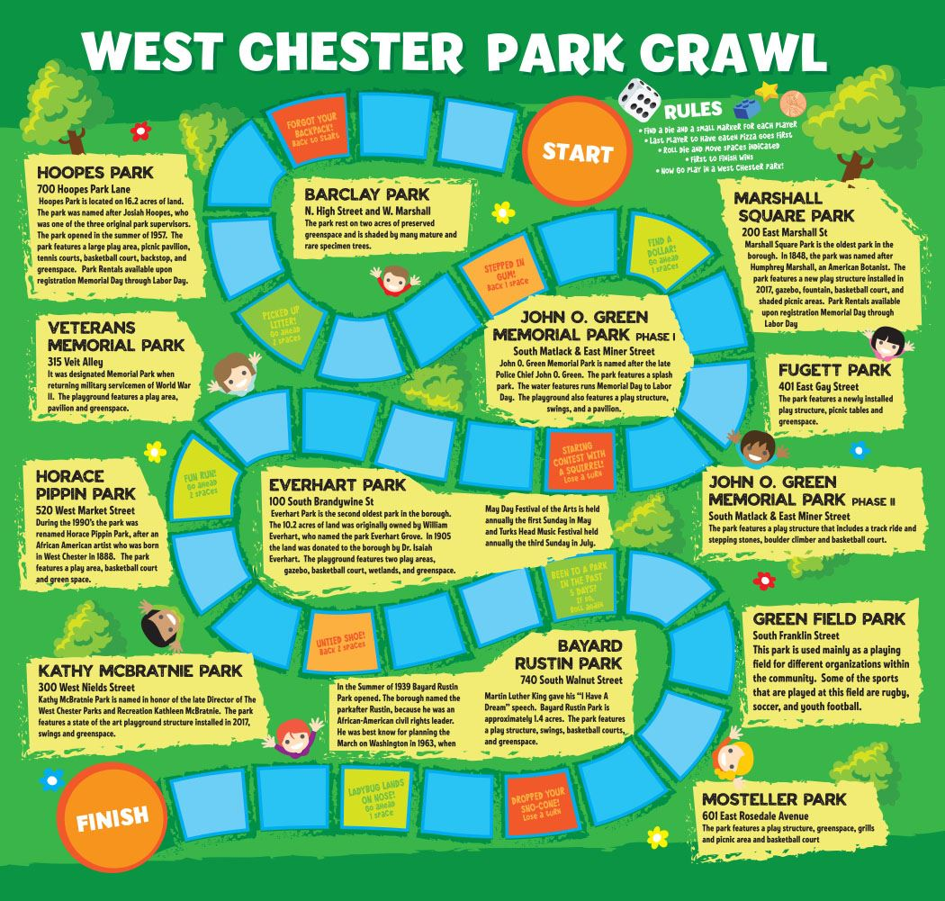 West Chester Park Crawl Flyer